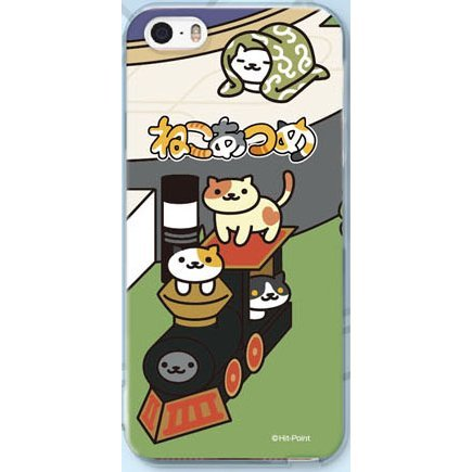 Neko Atsume Smartphone Case Ver. 2 for iPhoneSE/5S/5: Locomotive Deluxe