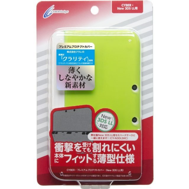 Premium Protect Cover for New 3DS LL (Clear Lime)