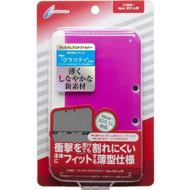 Premium Protect Cover for New 3DS LL (Clear Pink)