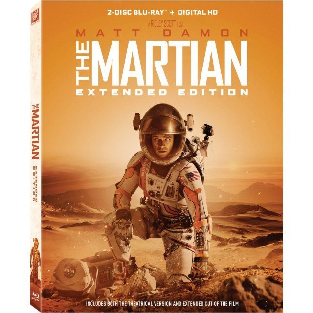 The Martian (Extended Edition) [Blu-ray+Digital HD]