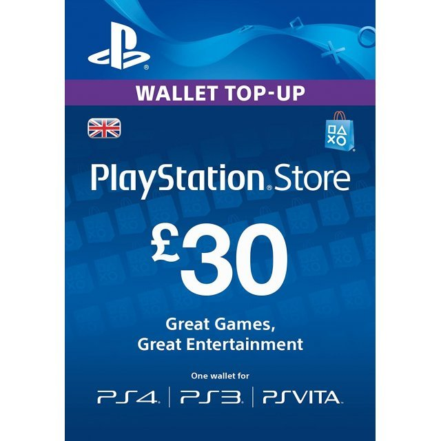 PlayStation Network 30 GBP PSN CARD UK