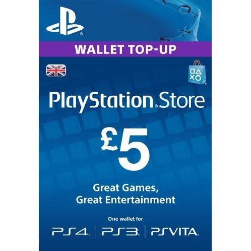 PlayStation Network 5 GBP PSN CARD UK