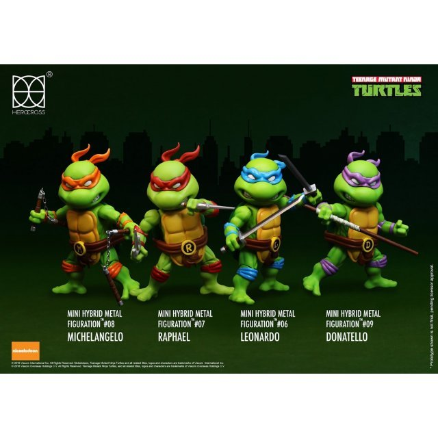 Mini Hybrid Metal Figuration Teenage Mutant Ninja Turtles (Set of 4 pieces)