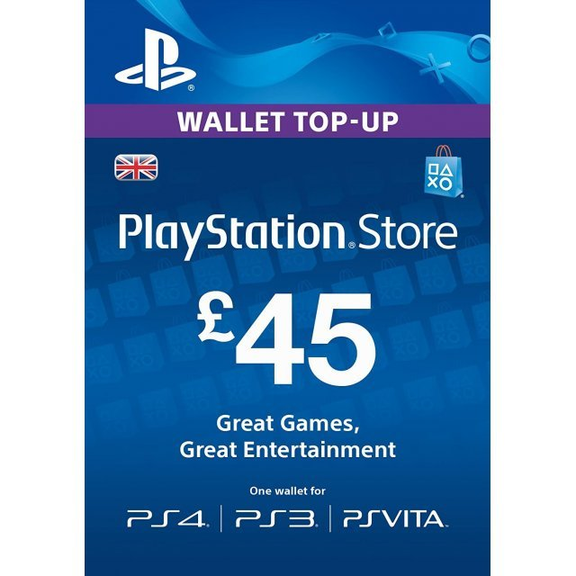 PlayStation Network 45 GBP PSN CARD UK