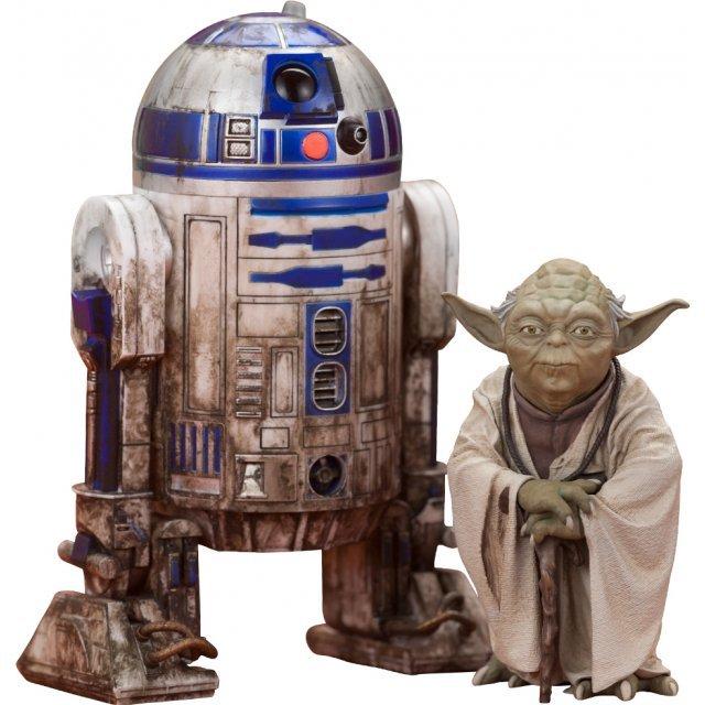 ARTFX+ Star Wars 1/10 Scale Pre-Painted Figure: Yoda & R2-D2 Dagobah Pack