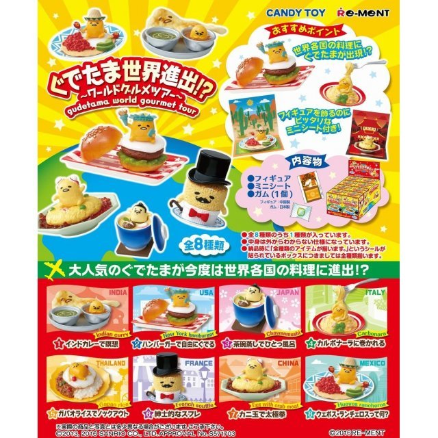 Gudetama Global Expansion!? -World Gourmet Tour- (Set of 8 pieces)