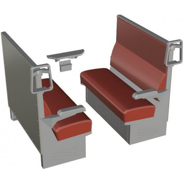 Railway Accessories Series 1/12 Scale: EK-12 Box Seat Red (Kit Type)