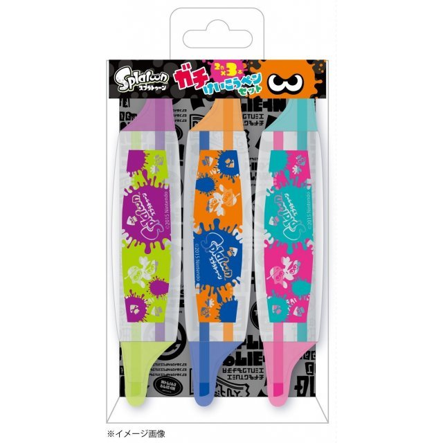 Splatoon Fluorescent Highlighter Pen Set