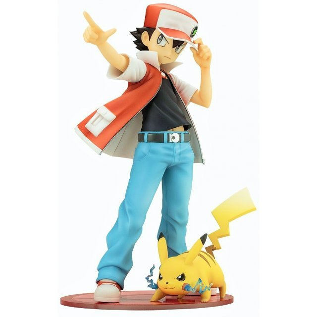 ARTFX J Pokemon Series 1/8 Scale Pre-Painted Figure: Red with Pikachu