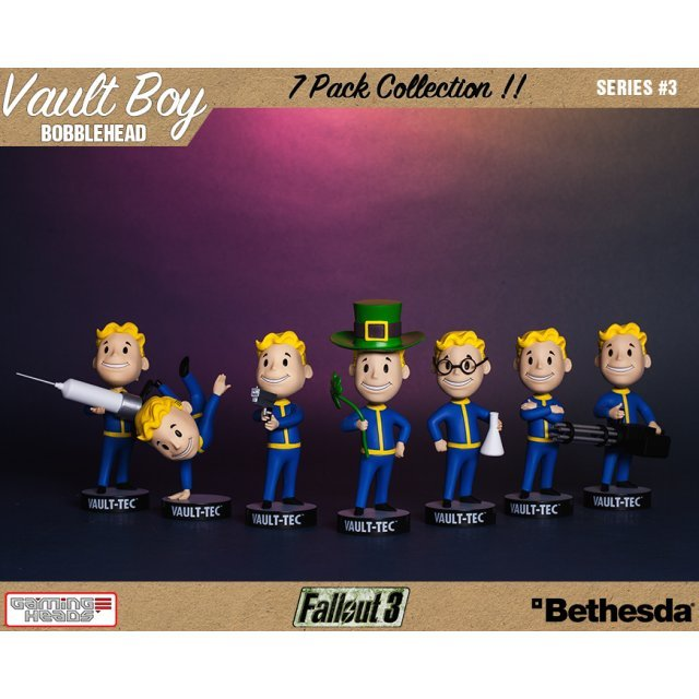 Fallout 3: Vault Boy 101 Bobbleheads Series Three (Set of 7 Pieces)