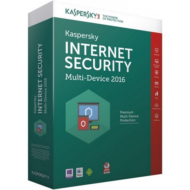 Kaspersky Internet Security Multi-Device 2016, 1 Device, 1 Year