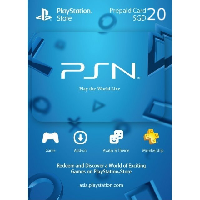 PlayStation Network 20 SGD PSN CARD SG