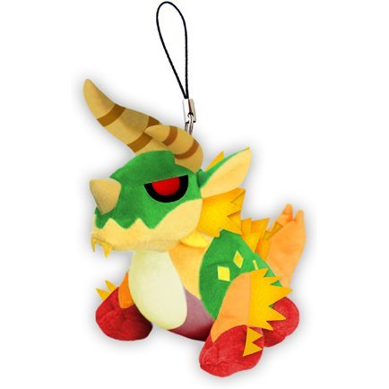 Monster Hunter X Monster Mini Mascot Plush: Thunderlord Zinogre