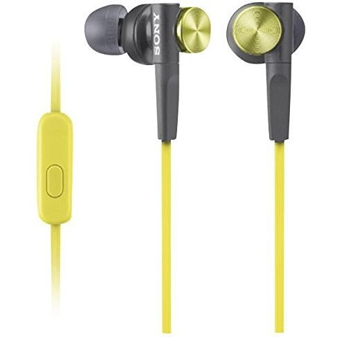 Sony MDR-XB50AP Extra Bass In-ear Headphones (Yellow)