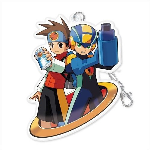 Mega Man Diecut Pass Case: Mega Man Battle Network Mega Man & Lan