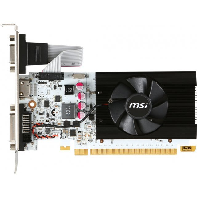 MSI GeForce GT 730, N730K-2GD5LP/OCV1, 2GB GDDR5