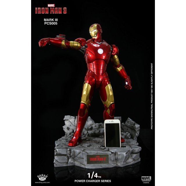 King Arts Iron Man 1/4 Power Charger Series: USB Charger Base with Mark 3