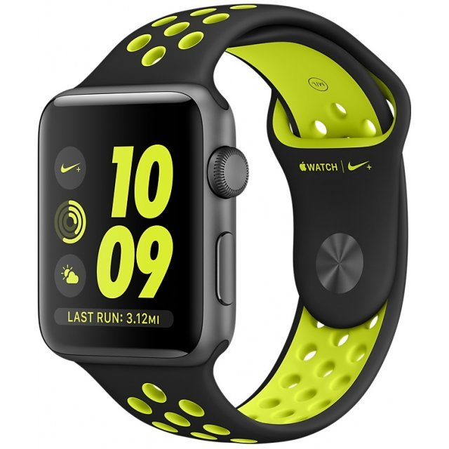Apple Watch Nike+ Series 2 42mm with Black/Volt Nike Sport Band (Space Gray)