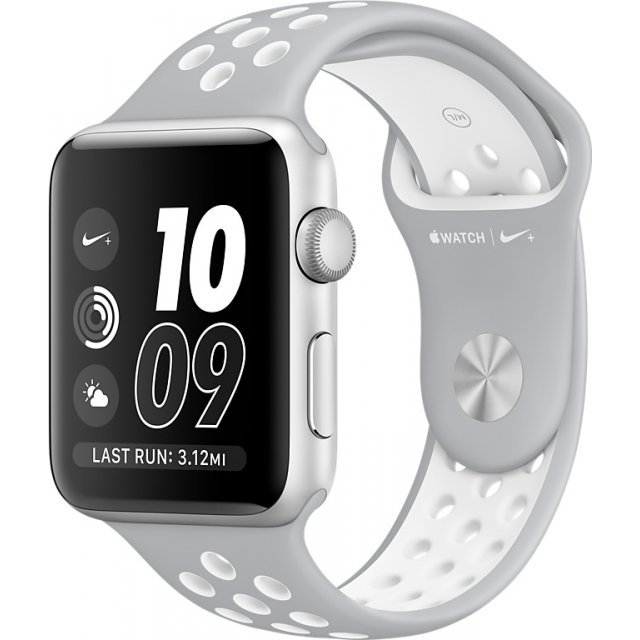 Apple Watch Nike+ Series 2 38mm with Flat Silver/White Nike Sport Band (Silver)