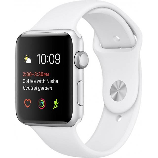 Apple Watch Series 2 38mm with White Sport Band (Silver)
