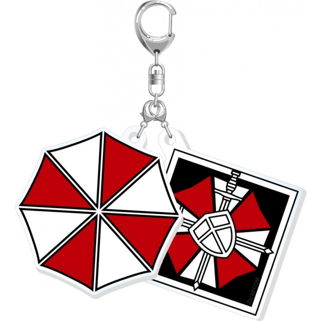 Biohazard Double Acrylic Keychain: Umbrella
