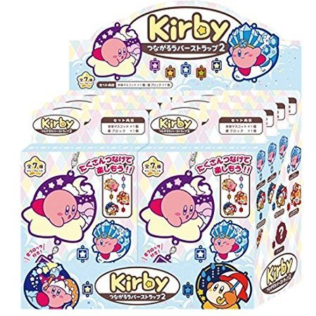 Kirby's Dream Land Connectable Rubber Strap 2 (Set of 8 pieces)