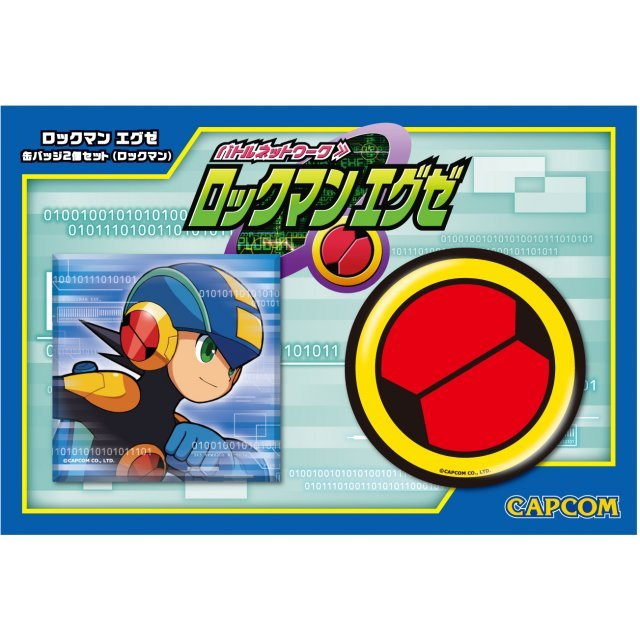 Rockman EXE Can Badge: Rockman (Set of 2 pieces)