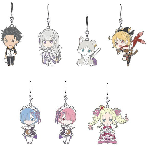 Nendoroid Plus Re:Zero -Starting Life in Another World- Collectible Rubber Straps (Set of 7 pieces)