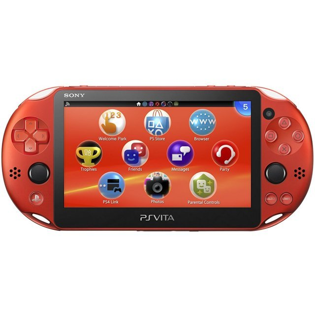 PS Vita PlayStation Vita New Slim Model - PCH-2000 (Metallic Red)
