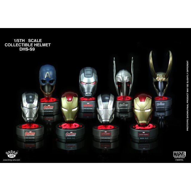 King Arts Iron Man 3 1/5 Deluxe Helmet Series 9 (Set of 8 pieces)