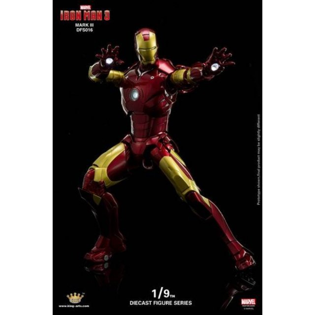 King Arts Iron Man 3 1/9 Diecast Figure Series: Iron Man Mark III