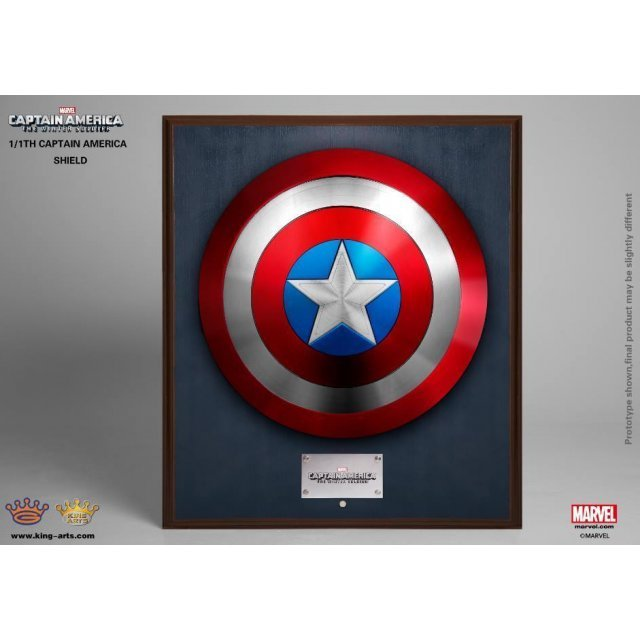 King Arts 1/1 Movie Props Series Captain America The Winter Soldier: Classic Captain America Shield (Wall Fixed Style)