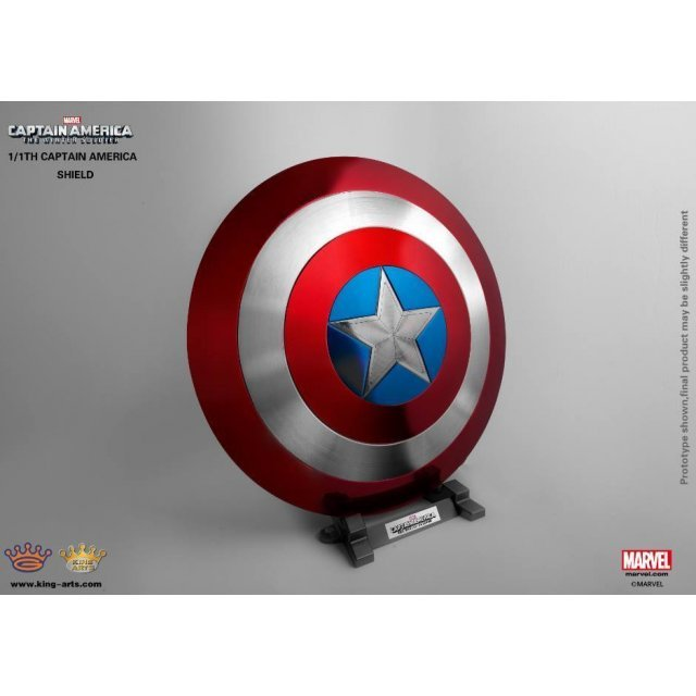 King Arts 1/1 Movie Props Series Captain America The Winter Soldier: Classic Captain America Shield (Pedestal Style)