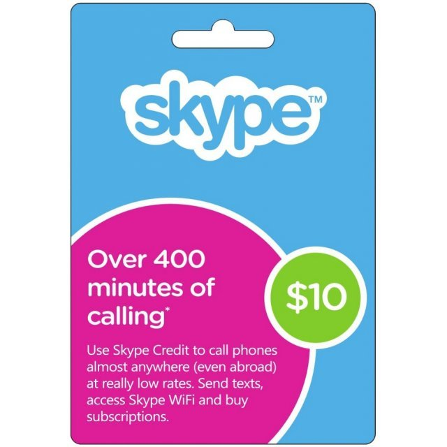 Skype Prepaid Credit Card (USD $10)