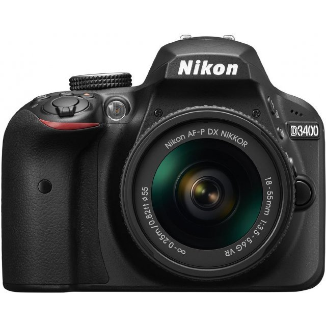 Nikon D3400 Kit with AF-P VR DX 18-55mm 3.5-5.6G Lens