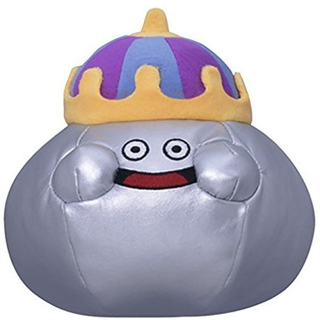 Dragon Quest Smile Slime Plush: Metal King (S Size)