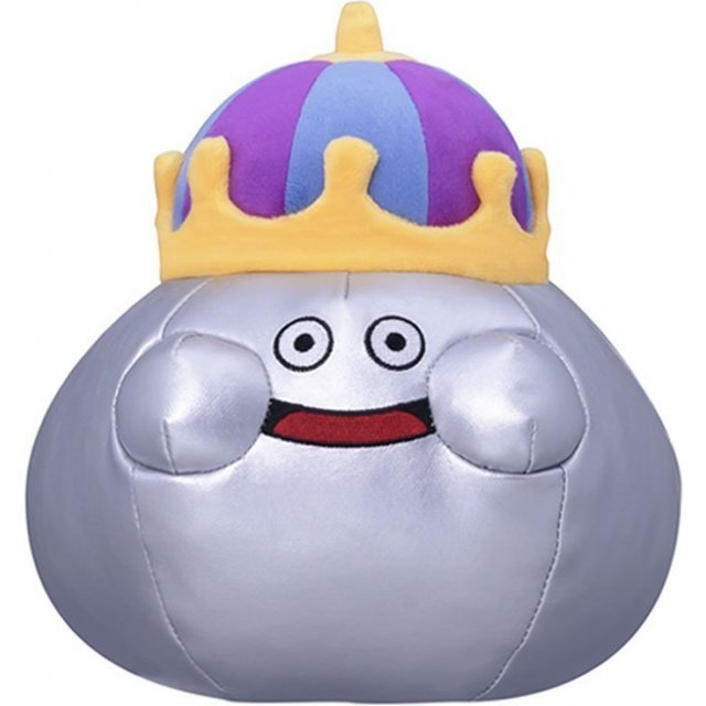 Dragon Quest Smile Slime Plush: Metal King (M Size)