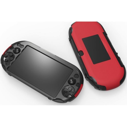Hybrid Cover With Stand for PlayStation Vita Slim (Red)