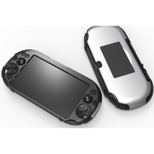 Hybrid Cover With Stand for PlayStation Vita Slim (Silver)