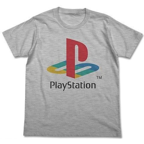 PlayStation T-shirt Heather Gray: First Generation PlayStation (S Size)