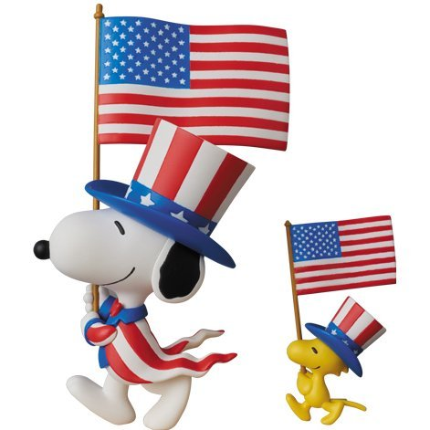 Peanuts Series 5 Ultra Detail Figure: U.S.A. Snoopy & Woodstock