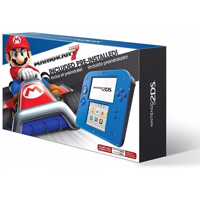 Nintendo 2DS Mario Kart 7 Bundle (Electric Blue 2)