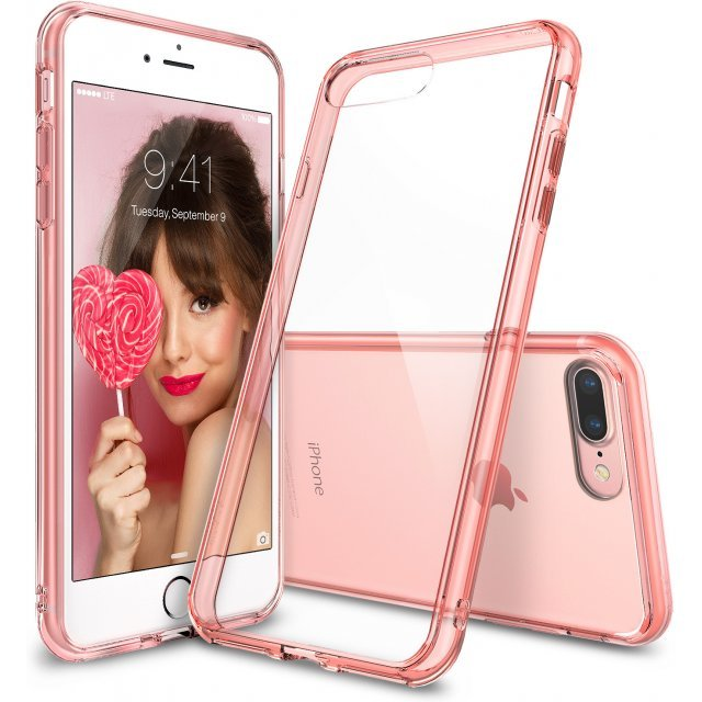 Ringke Fusion iPhone 7 Plus Case (Rose Gold Crystal)
