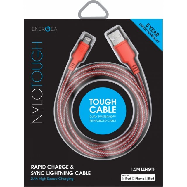 Energea NyloTough Lightning Cable 1.5m (Red)