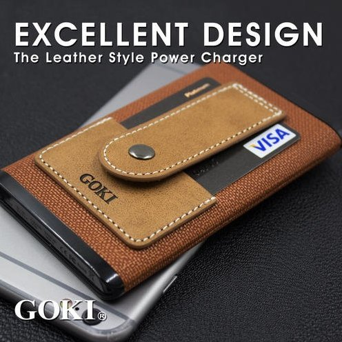 GOKI CXX-1225C Leather Power Bank (Brown)