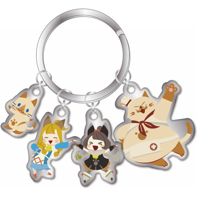 Monster Hunter XX Key Ring with Quadruple Charm