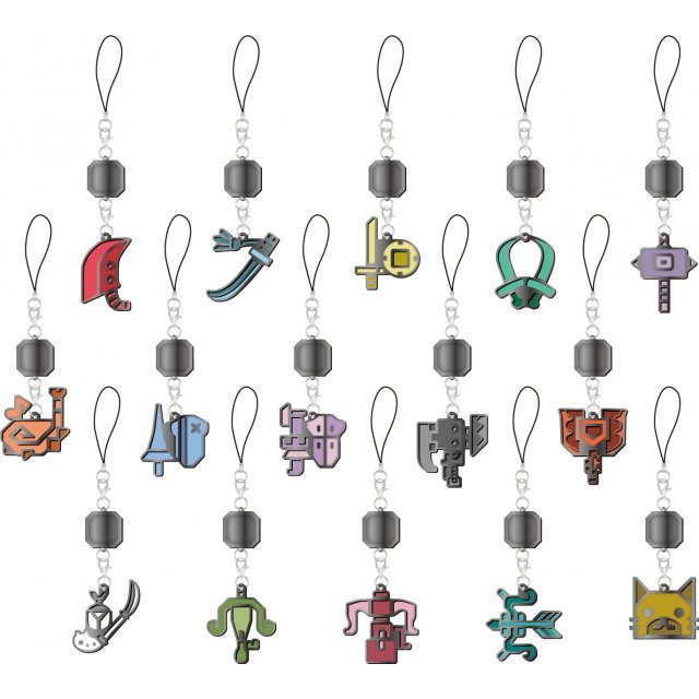 Monster Hunter XX Mascot Collection: Weapon Icon Stained (Set of 15 pieces)