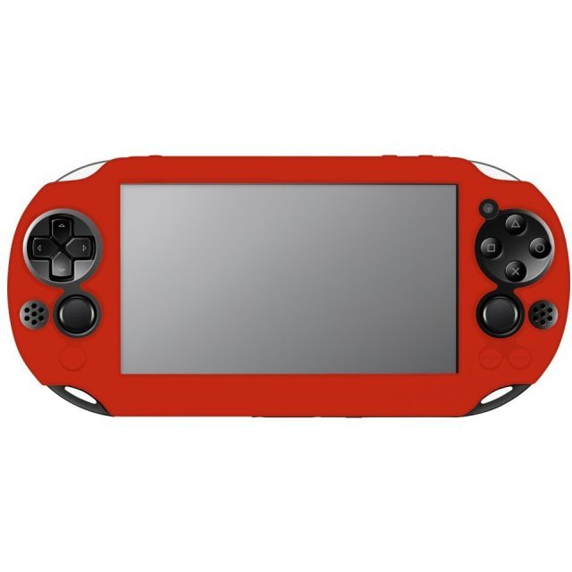 New Silicon Cover for PlayStation Vita Slim (Red)