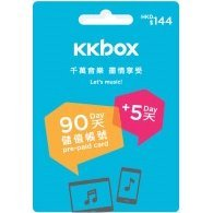 KKbox Pre-Paid Card (HKD144 for Hong Kong accounts only)