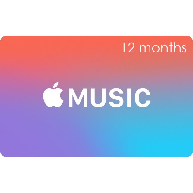 Apple Music Gift Cards (12 Month Membership Card / for Canada accounts only)
